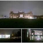 Berliner Regierungsviertel - Collage am Abend
